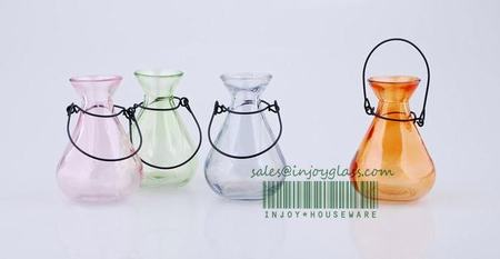 Glass canister _ glass vase H3043